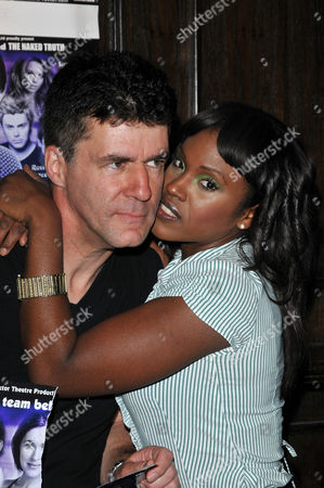 Andrew Monk (Simon Cowell lookalike, not in show) and Kelle Bryan