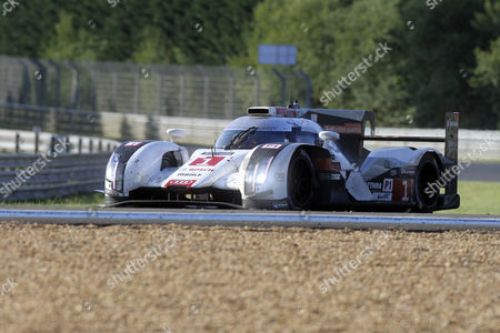 Audi Sport Team Joest in Audi R18 E-tron Quattro with Lucas Di Grassi of Brazil Loic Duval of France and Tom Kristensen of Denmark During the Le Mans 24 Hours Race in Le Mans France 15 June 2014 the Race Started at 3pm a Day Earlier and is Scheduled to Finish at 3pm on 15 June France Le Mans