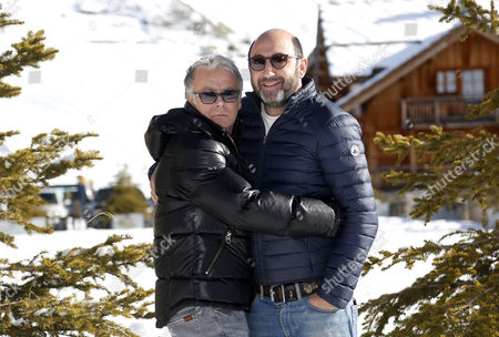 French Actors Franck Dubosc (l) and Kad Merad (r) Pose During the Photocall For 'Bis' at the 18th Annual International Comedy Film Festival in L'alpe D'huez France 15 January 2015 the Festival Runs From 14 to 18 January France Alpe D'huez