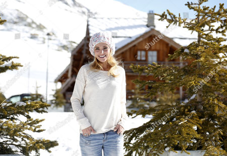 French Actress and Singer Claire Keim Poses During the Photocall For 'Realite' at the 18th Annual International Comedy Film Festival in L'alpe D'huez France 15 January 2015 the Festival Runs From 14 to 18 January France Alpe D'huez