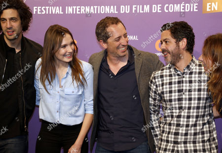(l-r) Jury Members French Actors Max Boubil Ana Giradot Gad Elmaleh Sylvie Testud and Manu Payet Attend the Opening Ceremony of the 18th Annual International Comedy Film Festival in L'alpe D'huez France 14 January 2015 the Festival Runs From 14 to 18 January France Alpe D'huez