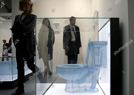 Visitors Stand Next to the Artwork 'Apartment A' by Korean Artist Do Ho Suh Exhibited at the International Contemporary Art Fair (fiac) in the Grand Palais in Paris France 22 October 2014 the Fiac Runs From 23 to 26 October France Paris