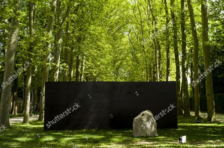 The Sculpture 'Relatum - Dialogue Z' by Korean Artist Lee Ufan is on Display in the Garden of Chateau De Versailles in Versailles Near Paris France 20 June 2014 From 17 June to 02 November the Palace of Versailles Hosts a Major Contemporary Art Exhibition by Lee Ufan France Versailles