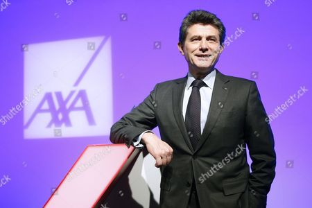 Stock Image of Henri De Castries Chairman and Ceo of Axa Poses For Photographs After Holding a News Conference to Presents the French Insurance Company's 2015 Results in Paris France 25 February 2016 the Company Has Announced a Net Income of 5 6 Billions Euros in 2015 Which Represents a 3 Per Cent Increase France Paris