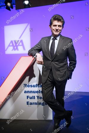 Editorial image of France Business Axa Results - Feb 2016