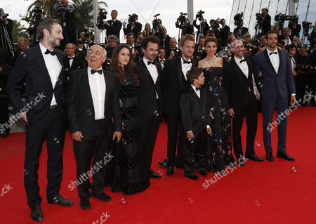 Cast of the 'Babysitting ' Vincent Desagnat Gerard Jugnot Alice David Director Nicolas Benamou Director Philippe Lacheau Enzo Tomasini Clotilde Courau Julien Arruti and Tarek Boudali Arrive For the Screening of 'How to Train Your Dragon 2' During the 67th Annual Cannes Film Festival in Cannes France 16 May 2014 the Movie is Presented out of Competition at the Festival Which Runs From 14 to 25 May France Cannes