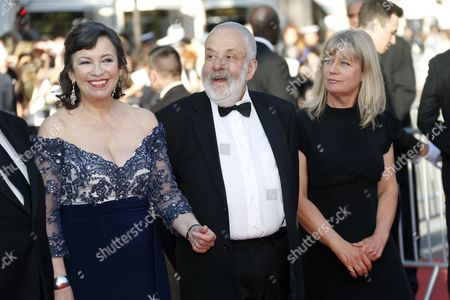 (l-r) British Actress Marion Bailey British Director Mike Leigh and Producer Georgina Lowe Arrive For the Screening of 'Mr Turner' During the 67th Annual Cannes Film Festival in Cannes France 15 May 2014 the Movie is Presented in the Official Competition of the Festival Which Runs From 14 to 25 May France Cannes