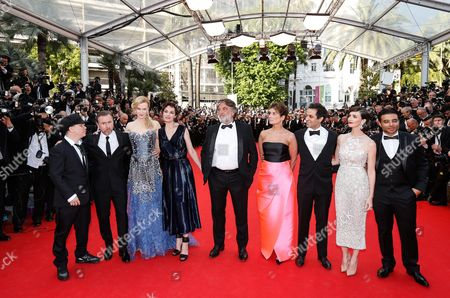 (l-r) French Director Olivier Dahan British Actor Tim Roth Australian Actress Nicole Kidman French Actress Jeanne Balibar French Producer Pierre Ange Le Pogam British-iranian Producer Arash Amel Spanish Actress Paz Vega Bollywood Producer Uday Chopra and Guest Arrive For the Screening of 'Grace of Monaco' and the Opening Ceremony of the 67th Annual Cannes Film Festival in Cannes France 14 May 2014 Presented out of Competition the Movie Opens the Festival Which Runs From 14 to 25 May France Cannes