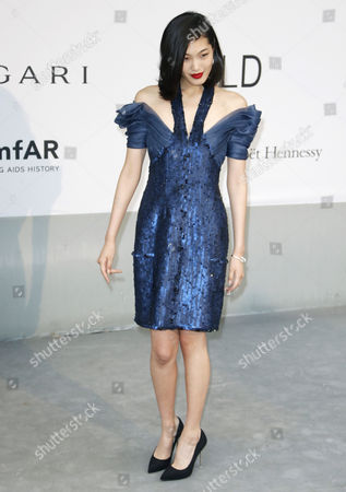 Stock Picture of Japanese Model Chiharu Okunugi Attends the Cinema Against Aids Amfar Gala 2014 Held at the Hotel Du Cap Eden Roc in Cap D'antibes France 22 May 2014 During the 67th Annual Cannes Film Festival the Festival Runs From 14 to 25 May France Cap D'antibes