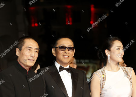 (l-r) Chinese Director Zhang Yimou Chinese Actor Chen Daoming and Chinese Actress Gong Li Arrive For the Screening of 'Gu Lai' (coming Home) During the 67th Annual Cannes Film Festival in Cannes France 20 May 2014 the Movie is Presented out of Competition at the Festival Which Runs From 14 to 25 May France Cannes