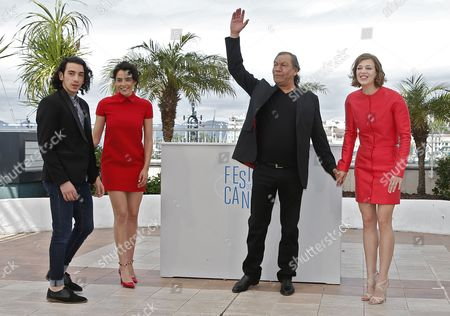 (l-r) French Actor Rachid Youcef Actress Nailia Harzoune French Director Tony Gatlif and French Actress Celine Sallette Pose During the Photocall For 'Geronimo' at the 67th Annual Cannes Film Festival in Cannes France 20 May 2014 the Movie is Presented in the Section Special Screenings of the Festival Which Runs From 14 to 25 May France Cannes