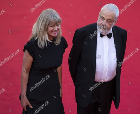 (l-r) Producer Georgina Lowe and British Director Mike Leigh Arrive For the Screening of 'Mr Turner' During the 67th Annual Cannes Film Festival in Cannes France 15 May 2014 the Movie is Presented in the Official Competition of the Festival Which Runs From 14 to 25 May France Cannes