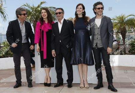 (l-r) Argentine Actor Ricardo Darin Argentine Actress Erica Rivas Actor Oscar Martinez Argentine Actress Maria Marull and Argentine Actor Leonardo Sbaraglia Pose During the Photocall For 'Relatos Salvajes' (wild Tales) at the 67th Annual Cannes Film Festival in Cannes France 17 May 2014 the Movie is Presented in the Official Competition of the Festival Which Runs From 14 to 25 May France Cannes
