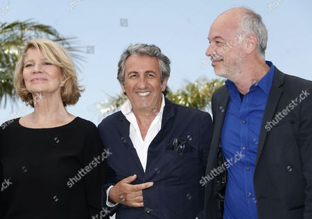 Golden Camera Jury Members (l-r) French Director Nicole Garcia French Actor Richard Anconina and Belgian Cinematographer Philippe Van Leeuw Pose During a Photocall at the 67th Annual Cannes Film Festival in Cannes France 17 May 2014 the Festival Runs From 14 to 25 May France Cannes