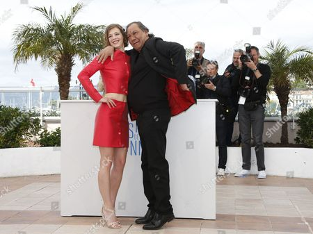 French Actress Celine Sallette (l) and French Director Tony Gatlif (r) Pose During the Photocall For 'Geronimo' at the 67th Annual Cannes Film Festival in Cannes France 20 May 2014 the Movie is Presented in the Section Special Screenings of the Festival Which Runs From 14 to 25 May France Cannes