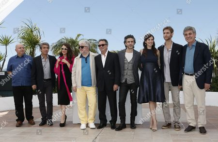 (l-r) Spanish Producer Agustin Almodovar Argentine Actor Ricardo Darin Argentine Actress Erica Rivas Spanish Producer Pedro Almodovar Actor Oscar Martinez Argentine Actor Leonardo Sbaraglia Argentine Actress Maria Marull Argentine Director Damian Szifron and Argentine Producer Hugo Sigman Pose During the Photocall For 'Relatos Salvajes' (wild Tales) at the 67th Annual Cannes Film Festival in Cannes France 17 May 2014 the Movie is Presented in the Official Competition of the Festival Which Runs From 14 to 25 May France Cannes