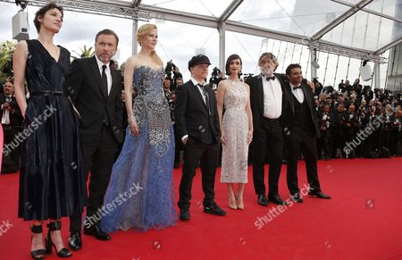 Stock Photo of (l-r) French Actress Jeanne Balibar British Actor Tim Roth Australian Actress Nicole Kidman French Director Olivier Dahan Spanish Actress Paz Vega French Producer Pierre Ange Le Pogam and Bollywood Producer Uday Chopra Arrive For the Screening of 'Grace of Monaco' and the Opening Ceremony of the 67th Annual Cannes Film Festival in Cannes France 14 May 2014 Presented out of Competition the Movie Opens the Festival Which Runs From 14 to 25 May France Cannes