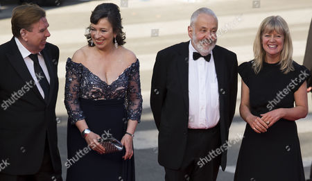 (l-r) British Actor Timothy Spall British Actress Marion Bailey British Director Mike Leigh Producer Georgina Lowe Arrive For the Screening of 'Mr Turner' During the 67th Annual Cannes Film Festival in Cannes France 15 May 2014 the Movie is Presented in the Official Competition of the Festival Which Runs From 14 to 25 May France Cannes