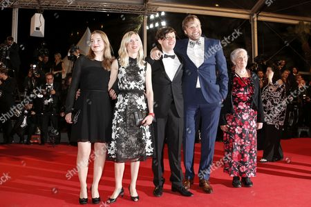 (l-r) Actress Birte Schnoeink Austrian Director Jessica Hausner German Actor Christian Friedel German Actor Stephan Grossmann and Guest Arrive For the Screening of 'Captives' (the Captive) During the 67th Annual Cannes Film Festival in Cannes France 16 May 2014 the Movie is Presented in the Official Competition of the Festival Which Runs From 14 to 25 May France Cannes