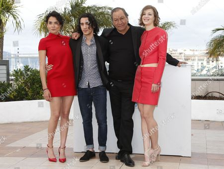 (l-r) Actress Nailia Harzoune French Actor Rachid Youcef French Director Tony Gatlif and French Actress Celine Sallette Pose During the Photocall For 'Geronimo' at the 67th Annual Cannes Film Festival in Cannes France 20 May 2014 the Movie is Presented in the Section Special Screenings of the Festival Which Runs From 14 to 25 May France Cannes