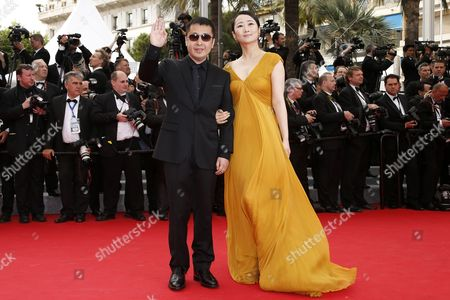 Jury Member Chinese Director Jia Zhangke (l) and Chinese Actress Tao Zhao (r) Arrive For the Screening of 'The Search' During the 67th Annual Cannes Film Festival in Cannes France 21 May 2014 the Movie is Presented in the Official Competition of the Festival Which Runs From 14 to 25 May France Cannes