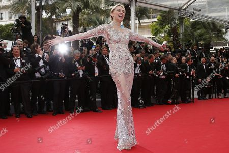Russian Model Inna Zobova Arrives For the Screening of 'The Search' During the 67th Annual Cannes Film Festival in Cannes France 21 May 2014 the Movie is Presented in the Official Competition of the Festival Which Runs From 14 to 25 May France Cannes