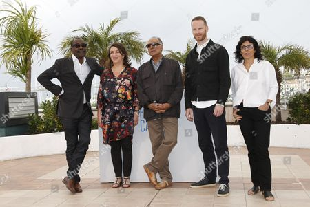 (l-r) Jury Members Chadian Director Mahamat-saleh Haroun French Director Noemie Lvovsky Iranian Director Abbas Kiarostami Norwegian Director Joachim Trier and Brazilian Director Daniela Thomas Pose During the Photocall of the Cinefondation and Short Films Jury at the 67th Annual Cannes Film Festival in Cannes France 22 May 2014 the Festival Runs From 14 to 25 May France Cannes