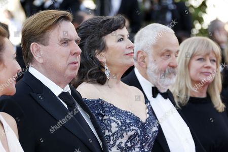 (l-r) British Actor Timothy Spall British Actress Marion Bailey British Director Mike Leigh and Producer Georgina Lowe Arrive For the Screening of 'Mr Turner' During the 67th Annual Cannes Film Festival in Cannes France 15 May 2014 the Movie is Presented in the Official Competition of the Festival Which Runs From 14 to 25 May France Cannes