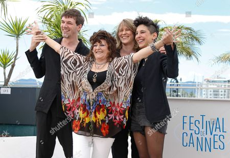 (l-r) French Co-director Samuel Theis French Actress Angelique Litzenburger French Co-directors Claire Burger and Marie Amachoukeli Pose During the Photocall For 'Party Girl' at the 67th Annual Cannes Film Festival in Cannes France 15 May 2014 the Movie is Presented in the Section Un Certain Regard of the Festival Which Runs From 14 to 25 May France Cannes