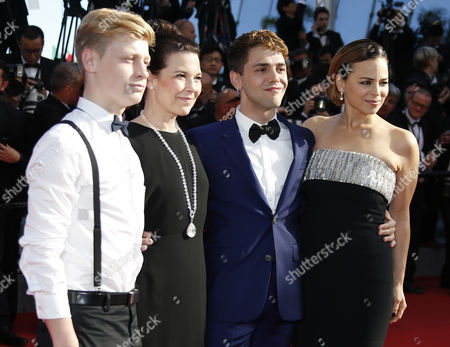 (l-r) Canadian Actor Antoine Olivier Pilon Canadian Actress Anne Dorval Canadian Director Xavier Dolan and Canadian Actress Suzanne Clement Arrive For the Screening of 'Per Un Pugno Di Dollari' (a Fistful of Dollars) and the Closing Award Ceremony of the 67th Annual Cannes Film Festival in Cannes France 24 May 2014 the Screening of the Movie Directed by Sergio Leone in 1964 Celebrates the 50th Anniversary of the Birth of the Spaghetti Western Epa/guillaume Horcajuelo France Cannes
