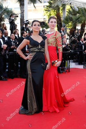 French Actress Sarah Barzyk (r) and French Singer Priscilla Betti (l) Arrive For the Screening of 'Mr Turner' During the 67th Annual Cannes Film Festival in Cannes France 15 May 2014 the Movie is Presented in the Official Competition of the Festival Which Runs From 14 to 25 May France Cannes