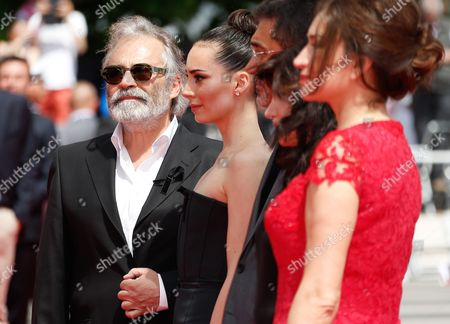 Tturkish Actor Haluk Bilginer (l) Arrives For the Screening of 'Winter Sleep' During the 67th Annual Cannes Film Festival in Cannes France 16 May 2014 Haluk Bilginer Wears a Black Ribbon in Support of the Victims of the Mine Disaster in Soma Turkey the Movie is Presented in the Official Competition of the Festival Which Runs From 14 to 25 May France Cannes