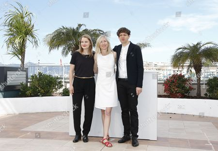 (l-r) Actress Birte Schnoeink Austrian Director Jessica Hausner and German Actor Christian Friedel Pose During the Photocall For 'Amour Fou' at the 67th Annual Cannes Film Festival in Cannes France 16 May 2014 the Movie is Presented in the Section Un Certain Regard of the Festival Which Runs From 14 to 25 May France Cannes