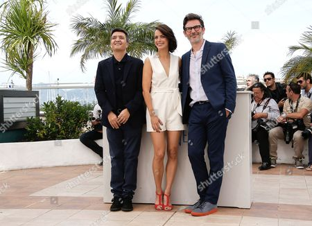(l-r) French Producer Thomas Langmann French Actress Berenice Bejo and French Director Michel Hazanavicius Pose During the Photocall For 'The Search' at the 67th Annual Cannes Film Festival in Cannes France 21 May 2014 the Movie is Presented in the Official Competition of the Festival Which Runs From 14 to 25 May France Cannes