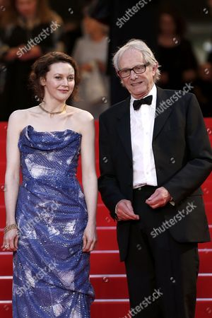 British Director Ken Loach (r) and Irish Actress Simone Kirby (l) Leave the Festival Palace After the Screening of 'Jimmy's Hall' During the 67th Annual Cannes Film Festival in Cannes France 22 May 2014 the Movie was Presented in the Official Competition of the Festival Which Runs From 14 to 25 May France Cannes
