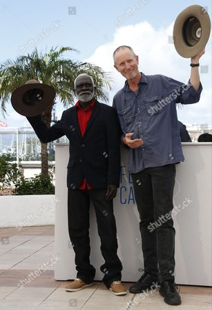 Stock Picture of Dutch Australian Director Rolf De Heer (r) and Yolngu Man Aboriginal Peter Djigirr (l) Pose During the Photocall For 'Charlie's Country' at the 67th Annual Cannes Film Festival in Cannes France 23 May 2014 the Movie is Presented in the Section Un Certain Regard of the Festival Which Runs From 14 to 25 May France Cannes