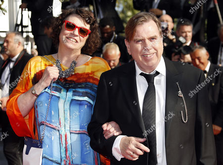 British Actor Timothy Spall (r) and Wife Shane Spall (l) Arrive For the Screening of 'Per Un Pugno Di Dollari' (a Fistful of Dollars) and the Closing Award Ceremony of the 67th Annual Cannes Film Festival in Cannes France 24 May 2014 the Screening of the Movie Directed by Sergio Leone in 1964 Celebrates the 50th Anniversary of the Birth of the Spaghetti Western France Cannes