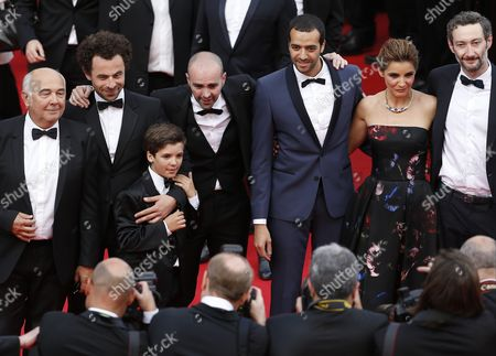 Cast of 'Babysitting ' Gerard Jugnot Director Nicolas Benamou Enzo Tomasini Julien Arruti Tarek Boudali Clotilde Courau and Vincent Desagnat Arrive For the Screening of 'How to Train Your Dragon 2' During the 67th Annual Cannes Film Festival in Cannes France 16 May 2014 the Movie is Presented out of Competition at the Festival Which Runs From 14 to 25 May France Cannes