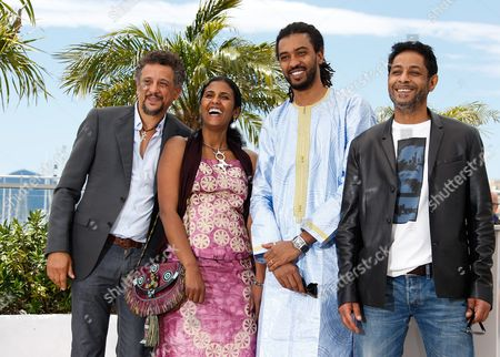(l-r) Tunisian Actor Abel Jafri Actress Toulou Kiki Actor Ibrahim Ahmed Aka Pino and Tunisian Actor Hichem Yacoub Pose During the Photocall For 'Timbuktu' at the 67th Annual Cannes Film Festival in Cannes France 15 May 2014 the Movie is Presented in the Official Competition of the Festival Which Runs From 14 to 25 May France Cannes