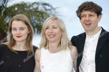 Stock Photo of (l-r) Actress Birte Schnoeink Austrian Director Jessica Hausner and German Actor Christian Friedel Pose During the Photocall For 'Amour Fou' at the 67th Annual Cannes Film Festival in Cannes France 16 May 2014 the Movie is Presented in the Section Un Certain Regard of the Festival Which Runs From 14 to 25 May France Cannes