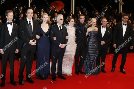 (l-r) Canadian Actor Evan Bird Us Actor John Cusack Australian Actress Mia Wasikowska Canadian Director David Cronenberg Us Actress Julianne Moore British Actor Robert Pattinson Canadian Actress Sarah Gadon and Guests Arrive For the Screening of 'Maps to the Stars' During the 67th Annual Cannes Film Festival in Cannes France 19 May 2014 the Movie is Presented in the Official Competition of the Festival Which Runs From 14 to 25 May France Cannes