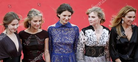 (l-r) French Actresses Lou De Laage Melanie Laurent Josephine Jappy Isabelle Carre and Claire Keim Arrive For the Screening of 'The Homesman' During the 67th Annual Cannes Film Festival in Cannes France 18 May 2014 the Movie is Presented in the Official Competition of the Festival Which Runs From 14 to 25 May France Cannes