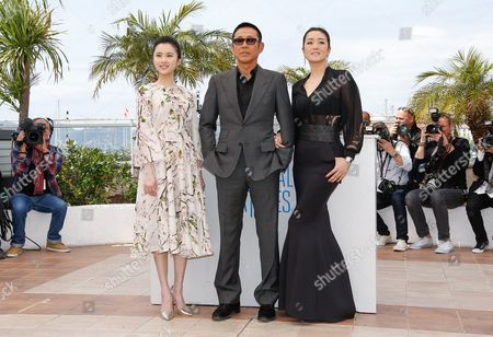 Chinese Actor Chen Daoming (c) Chinese Actress Zhang Huiwen (l) and Chinese Actress Gong Li (r) Pose During the Photocall For 'Gu Lai' (coming Home) at the 67th Annual Cannes Film Festival in Cannes France 20 May 2014 the Movie is Presented out of Competition at the Festival Which Runs From 14 to 25 May France Cannes
