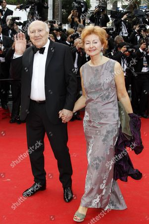French Actor Michel Piccoli (l) Arrives with His Wife Ludivine Clerc (r) For the Screening of 'Saint Laurent' During the 67th Annual Cannes Film Festival in Cannes France 17 May 2014 the Movie is Presented in the Official Competition of the Festival Which Runs From 14 to 25 May France Cannes