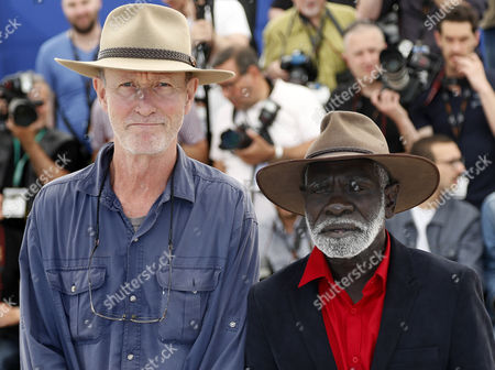 Dutch Australian Director Rolf De Heer (l) and Yolngu Man Aboriginal Peter Djigirr (r) Pose During the Photocall For 'Charlie's Country' at the 67th Annual Cannes Film Festival in Cannes France 23 May 2014 the Movie is Presented in the Section Un Certain Regard of the Festival Which Runs From 14 to 25 May France Cannes