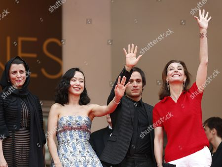 Jury Members (l-r) Iranian Actress Leila Hatami Korean Actress Jeon Do-yeon Mexican Actor Gael Garcia Bernal and French Actress Carole Bouquet Arrive For the Screening of the Palme D'or (golden Palm) Winning Film 'Winter Sleep' Which Closes the 67th Annual Cannes Film Festival in Cannes France 25 May 2014 France Cannes