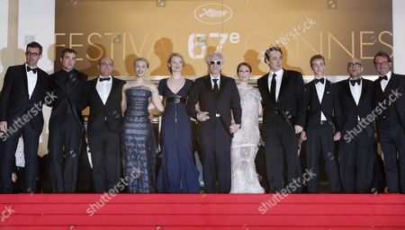 (l-r) British Actor Robert Pattinson Canadian Actress Sarah Gadon Australian Actress Mia Wasikowska Canadian Director David Cronenberg Us Actress Julianne Moore Us Actor John Cusack Canadian Actor Evan Bird and Guests Arrive For the Screening of 'Maps to the Stars' During the 67th Annual Cannes Film Festival in Cannes France 19 May 2014 the Movie is Presented in the Official Competition of the Festival Which Runs From 14 to 25 May France Cannes
