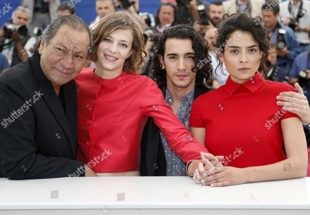 (l-r) French Director Tony Gatlif French Actress Celine Sallette French Actor Rachid Youcef and Actress Nailia Harzoune Pose During the Photocall For 'Geronimo' at the 67th Annual Cannes Film Festival in Cannes France 20 May 2014 the Movie is Presented in the Section Special Screenings of the Festival Which Runs From 14 to 25 May France Cannes