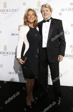 Us-born Austrian Singer-songwriter Denise Rich and Her Partner Peter Cervinka Attend the Party Held by Swiss Jewelry Company De Grisogono at the Hotel Du Cap Eden Roc in Cap D'antibes France 20 May 2014 During the 67th Annual Cannes Film Festival the Festival Runs From 14 to 25 May France Cap D'antibes