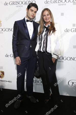 Stock Photo of Italian Designer Eva Cavalli (r) and Her Son Robin Cavalli (l) Attend the Party Held by Swiss Jewelry Company De Grisogono at the Hotel Du Cap Eden Roc in Cap D'antibes France 20 May 2014 During the 67th Annual Cannes Film Festival the Festival Runs From 14 to 25 May France Cap D'antibes